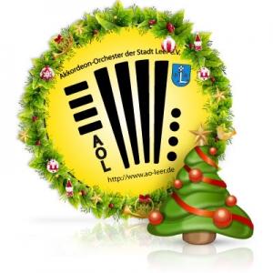 Logo mit Weihnachtsdeko