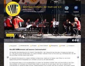 Webseite des Akkordeon-Orchester der Stadt Leer e.V.