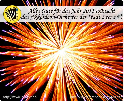 Guten Rutsch ins Neue Jahr 2012!