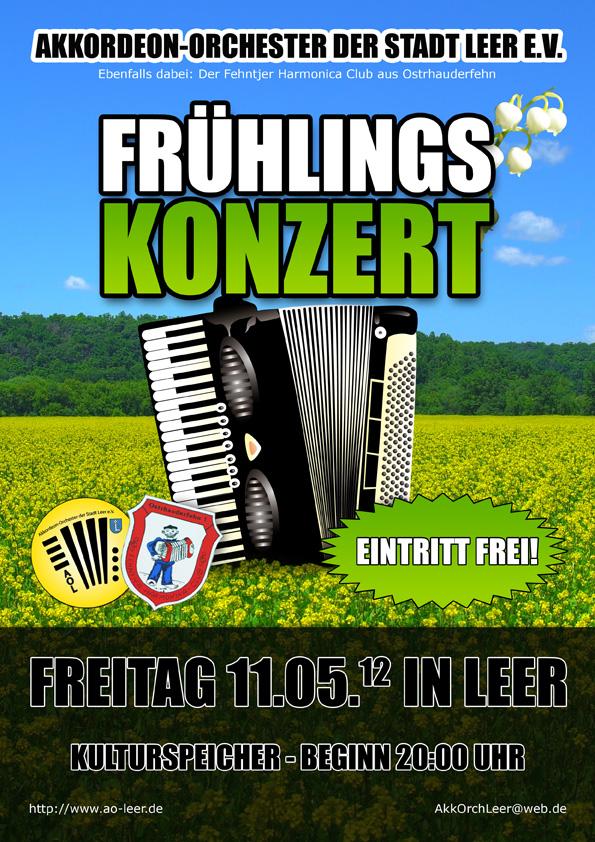 Plakat zum Frühlingskonzert am 11.05.2012