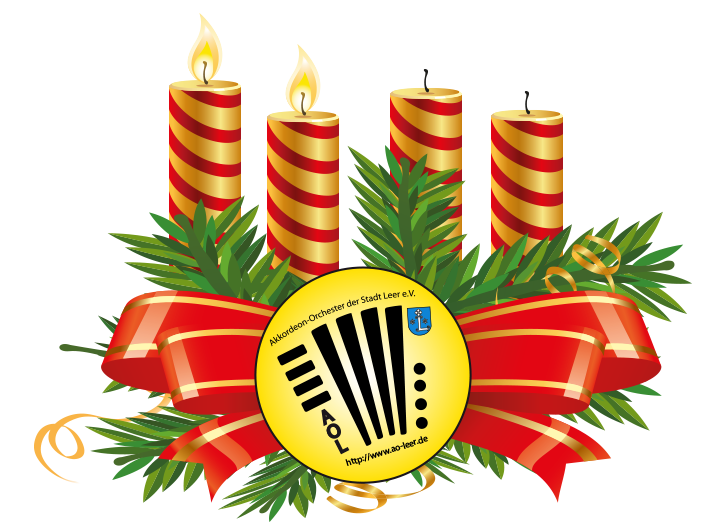 Adventskranz Akkordeon Orchester Leer