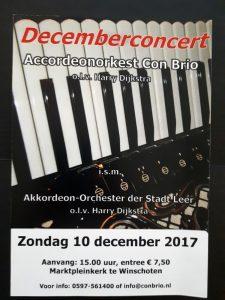 Con Brio Plakat Dezemberkonzert